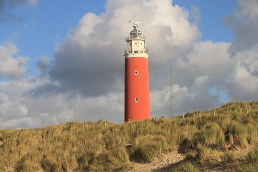 Texel, North Sea, Lighthouse, Lake, Beach, Sea, Red