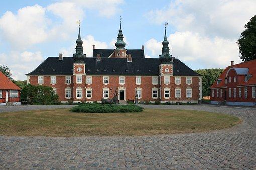 Jaegerspris Slot, Old, Historic, Architecture, Brick