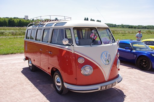 Old Car, Combi, Volkswagen, Van, Retro, Vw Camper Van
