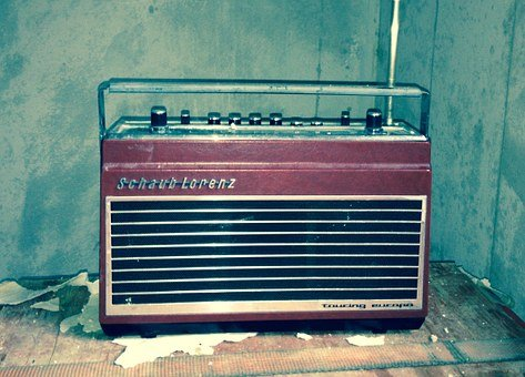 Radio, Music, Old, Wall, Nostalgia, Technology, Device