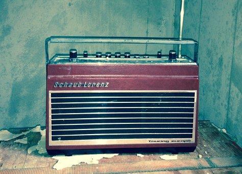 Radio, Music, Old, Wall, Nostalgia, Technology, Device