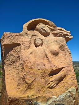 Sculpture, Rock, Desert, Dry, Carvings, Formation