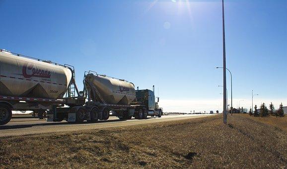 Alberta, Sunset, Truck, Trucker, Semi-truck, Semi Truck