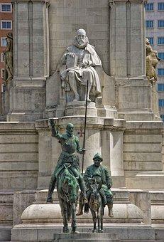 Don Quixote, Madrid, Servantes, Statues