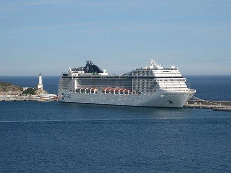Ship, Ms Orchestra, Ibiza, Spain, Of The Mediterranean