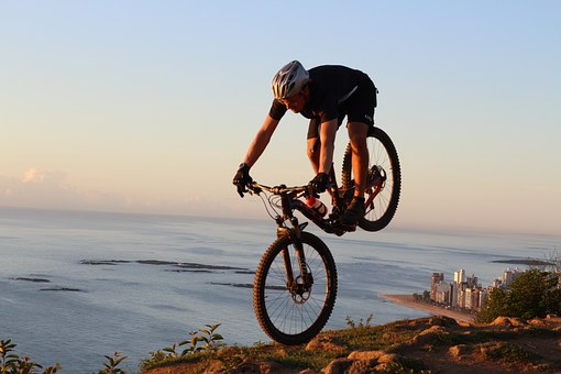 Enduro, Mtb, Bike, Pilot, Beach, Mar, Sport, Allmoutain