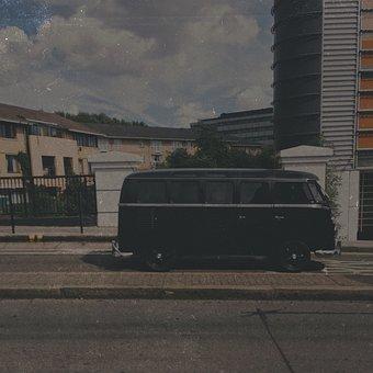 Vw, Campervan, Road, Motor, Retro, Transport, Vehicle