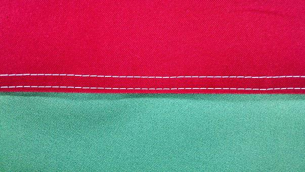 Sewing, Flag, Finish, Detail, Vdr