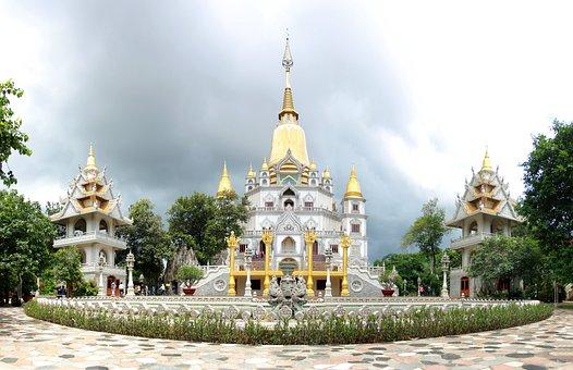 Pagoda, Vietnam, Buulong, Buu Long, Architecture