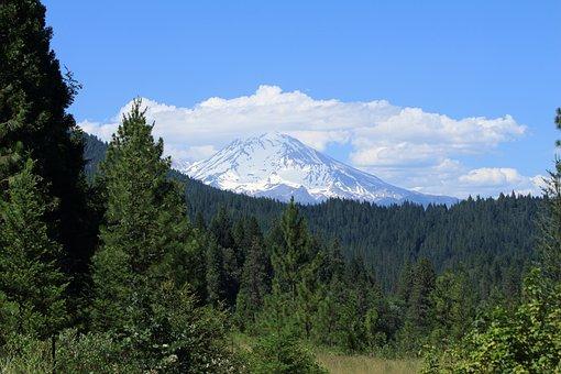 Mount Shasta, Mountain, California, Volcano, Peak
