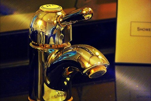 Faucet, Bathroom, Sanitaryblock, Metal, Mixer Tap, Wash