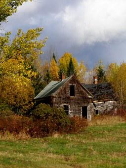 House, Fall, Abandoned, Deserted, Autumn, Deteriorated