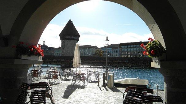 Lucerne, Water Tower, Kappel Bridge, Bridge, Reuss