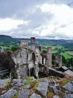 Castle, Medieval, Architecture, Ramparts, France
