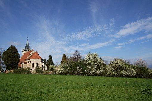 Church, Spring, Landscape, Heaven, Spring Landscape