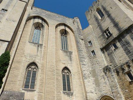 Avignon, France, Palais Des Papes, Architecture