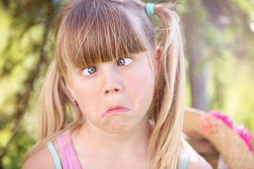 Child, Girl, Making A Face, Squint, Kids, Face, Blond