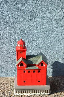 Lighthouse Statue, Red Lighthouse, Lighthouse, Landmark