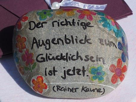 Stone, Labeled, Font, Painted, Lucky Stone, Greeting