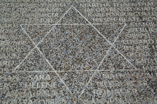 Star Of David, Memorial Stone, Ulm, Stone, Star, Jewish