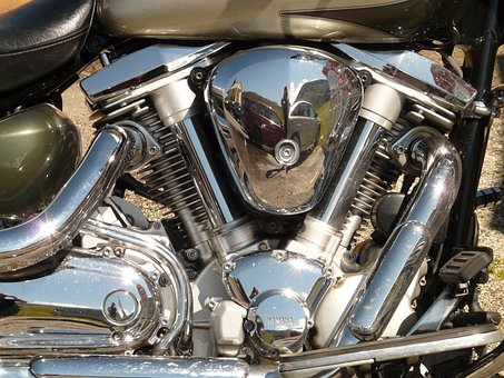 Motorcycle, Exhaust, Chrome, Vehicle, Chopper, Metal