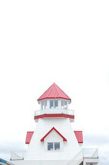 Lighthouse, Isolated, Roof, Top, White, Nautical, Ocean