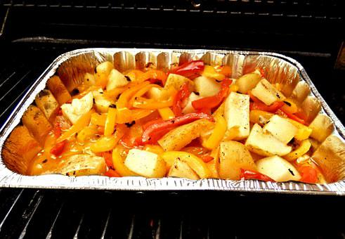 Bbq Pepper Stew, Italian Style, Peppers, Onions, Garlic