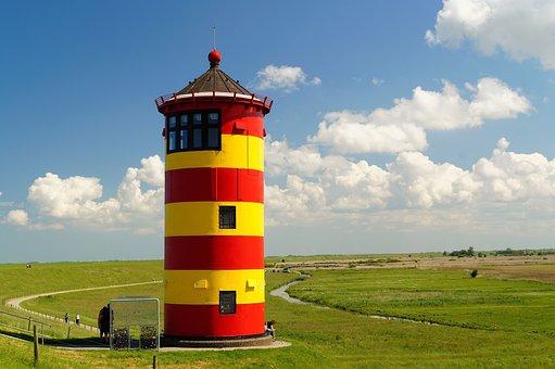 Lighthouse, Pilsumer Lighthouse, North Sea, East Frisia