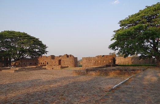 Kittur Fort, Fort, Ramparts, Ruins, Kittur, Karnataka