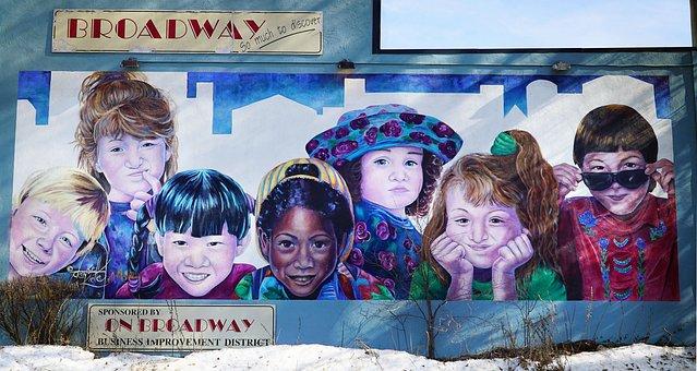 Art, Colors, Saskatoon, Mural, Saskatoon Broadway