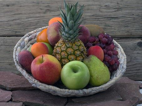 Still Life, Fruits, Pineapple, Tropical Fruits, Basket