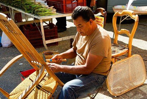 Artisan, Rempailleur, Straw Chair