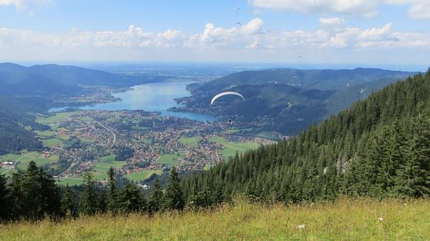 Paraglider, Tegernsee, Vision, Landscape, Nature