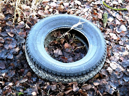 Auto Tires, Waste, Mature Age, Thrown Away, Disposed Of