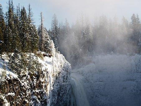 Helmcken Falls, Winter, Snow, Ice, Water, Landscape