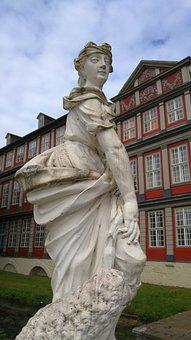 Castle, Wolfenbüttel, Stone Figures, Architecture