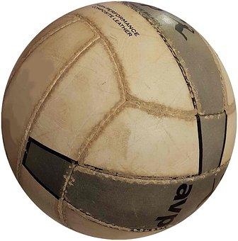 Volleyball, Older, Worn, Ball, Sport