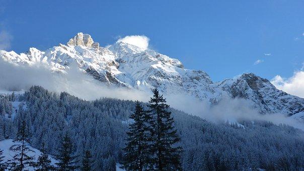 Adelboden, Winter, Alpine, Switzerland, Snow, January
