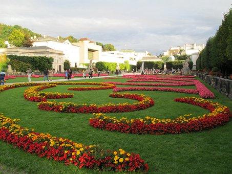 Mirabel Gardens, Austria, Salzburg, Arc, Summer