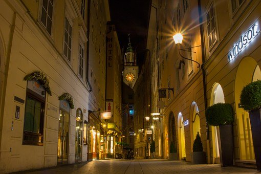 Salzburg, Old Town, Alley, The City Of Mozart, Austria