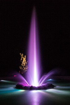 Salzburg, Austria, Night, Mirabell, Fountain