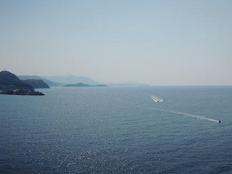 Sea, Golf, Water, Blue, Boat, Cruise, Air, Silent