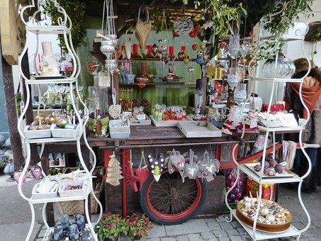 Christmas, Christmas Market, Sale, Sales Stand