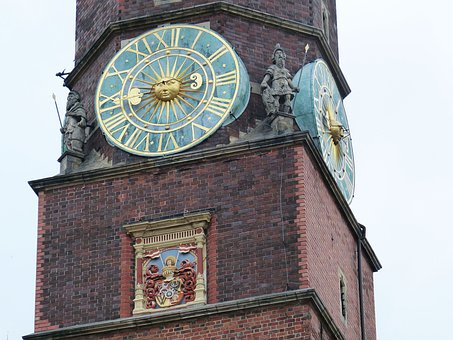Clock, Tower, Town Hall, Time, Clock Tower, Time Of