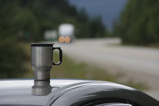 Coffee Mug, On The Go, Break, Highway, Melancholy