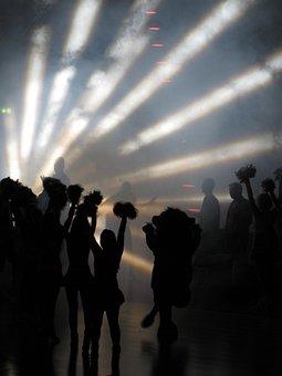 Cheerleader, Fog, Light, Shadow, Mood, Inside
