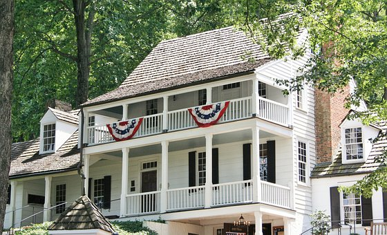 Tavern, Historic, 1784, Mansion, Guest House, Bunting