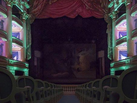 Theatre, Hall, Colors, Seats, Public, Box, Drama