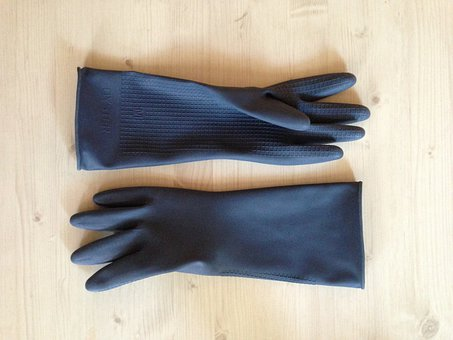 Gloves, Rubber, Black, Hygiene, Glove, Housework, Clean
