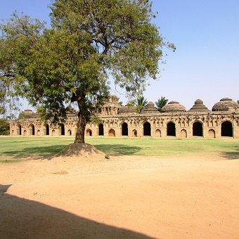 Elephants Stable, Hampi, India, Landmark, Culture